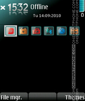 Glass icons theme screenshot