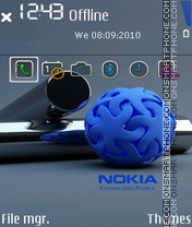 Nokia Blue Logo theme screenshot