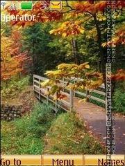 Paints of autumn theme screenshot