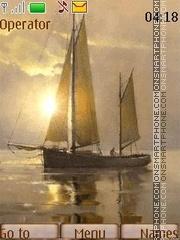 Dawn on the sea theme screenshot