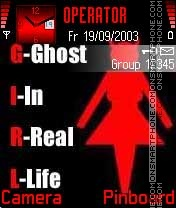 Girl Ghost theme screenshot