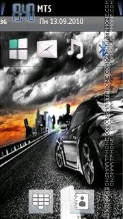 Sunset Racing 01 theme screenshot