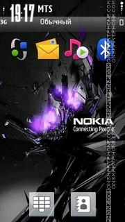 Nokia Blast Purpel es el tema de pantalla