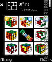Скриншот темы Rubikx cube