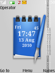 Note clock theme screenshot