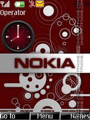 Nokia clock es el tema de pantalla