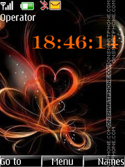 Heart clock theme screenshot