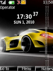 Car clock theme screenshot