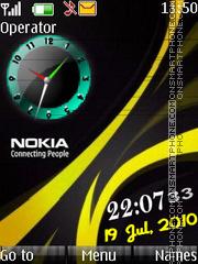 1nokia clock es el tema de pantalla