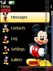 Скриншот темы Mickey Clock