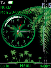Green Clock 02 theme screenshot