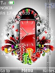 Gambling Clock theme screenshot