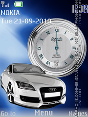 Audi SWF Clock theme screenshot