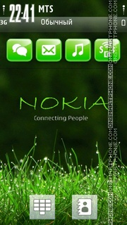 Nokia Green 02 theme screenshot