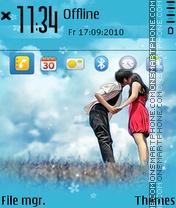 Blue love fp1 theme screenshot