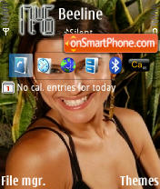 Nelly Furtado theme screenshot