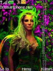 Britney Spears 22 theme screenshot