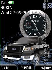 Скриншот темы Ford SWF Clock