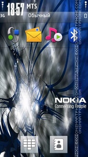 Nokia Blue 04 theme screenshot