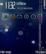 Blue light 01 theme screenshot