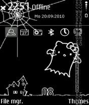 Hello kitty sketch es el tema de pantalla