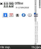 Скриншот темы Black n white 3rd fp2