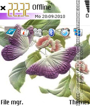 Butterflyes1 tema screenshot