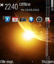 Galaxy fp1 theme screenshot