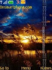 Wonderful sunset es el tema de pantalla