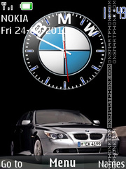 Bmw X6 Clock theme screenshot