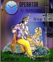 Radha and Krishna zji es el tema de pantalla