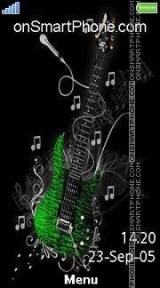 Green Guitar 02 es el tema de pantalla