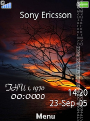 Sunset Clock 01 theme screenshot