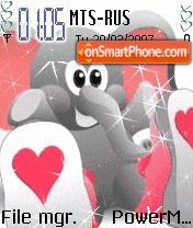 Animated Elephant es el tema de pantalla