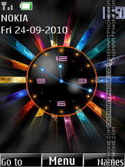Color Clock 01 theme screenshot