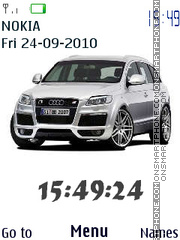 Audi Q7 Clock theme screenshot