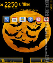 Bat Moon theme screenshot