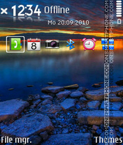 Sundown S60 v3 theme screenshot