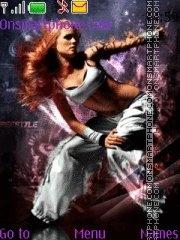 Girl Dancer theme screenshot
