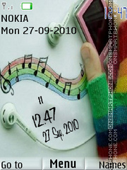 Music Clock theme screenshot