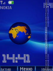 Earch clock animation theme screenshot