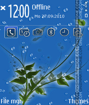 Rain Drops theme screenshot