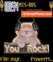 Animated DJ Cat es el tema de pantalla