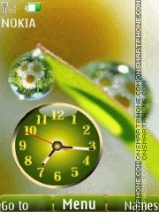 Camomile slide clock theme screenshot