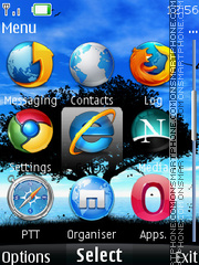 Browser Icons theme screenshot