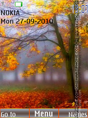 Autumn Forest 02 es el tema de pantalla