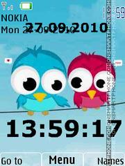 Birds Clock 01 es el tema de pantalla