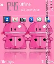 Скриншот темы Pink bear