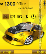 Sporty car theme screenshot