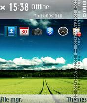 Скриншот темы Cloudy Sky 01